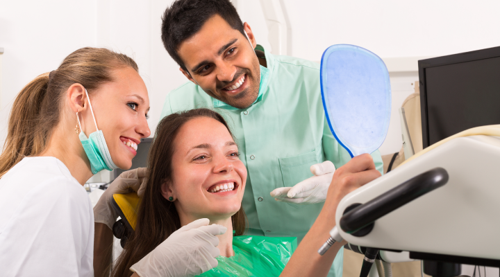 Good dental care brings a smile to your face